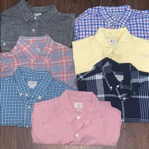 LOT of 7- J. Crew Button Down Shirts